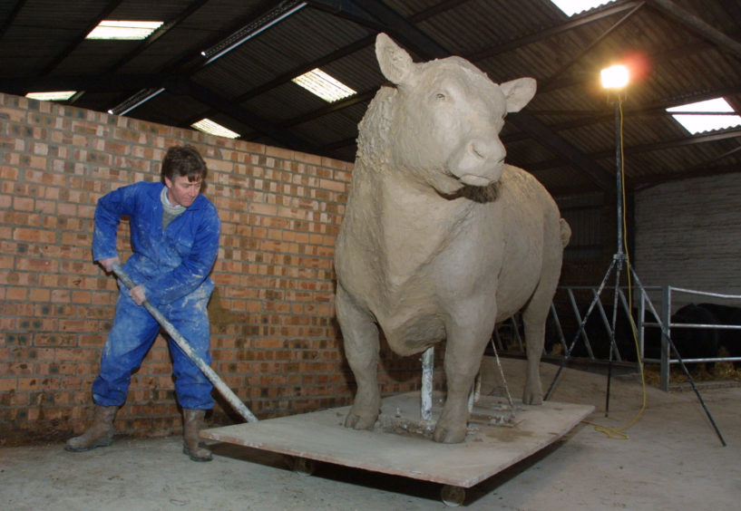 Work begins on the statue