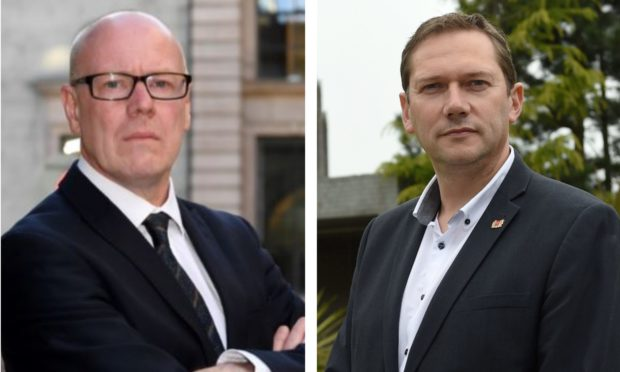 Aberdeen Central MSP Kevin Stewart and city council co-leader Douglas Lumsden are at loggerheads over business relief during the coronavirus crisis.
