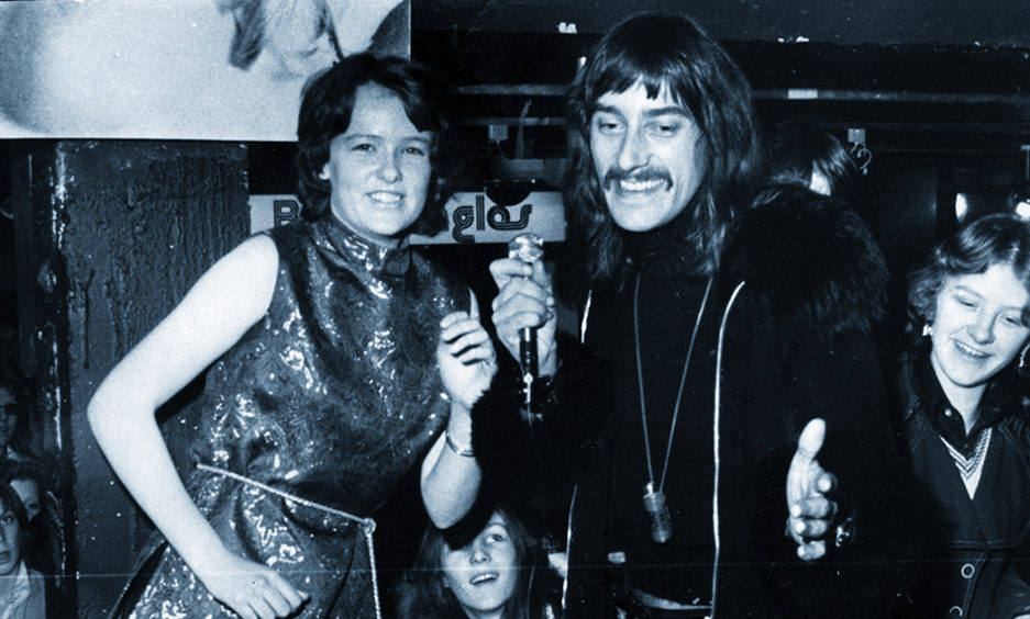 The opening of the  new Master Beaujangles shop in Aberdeen in 1974.