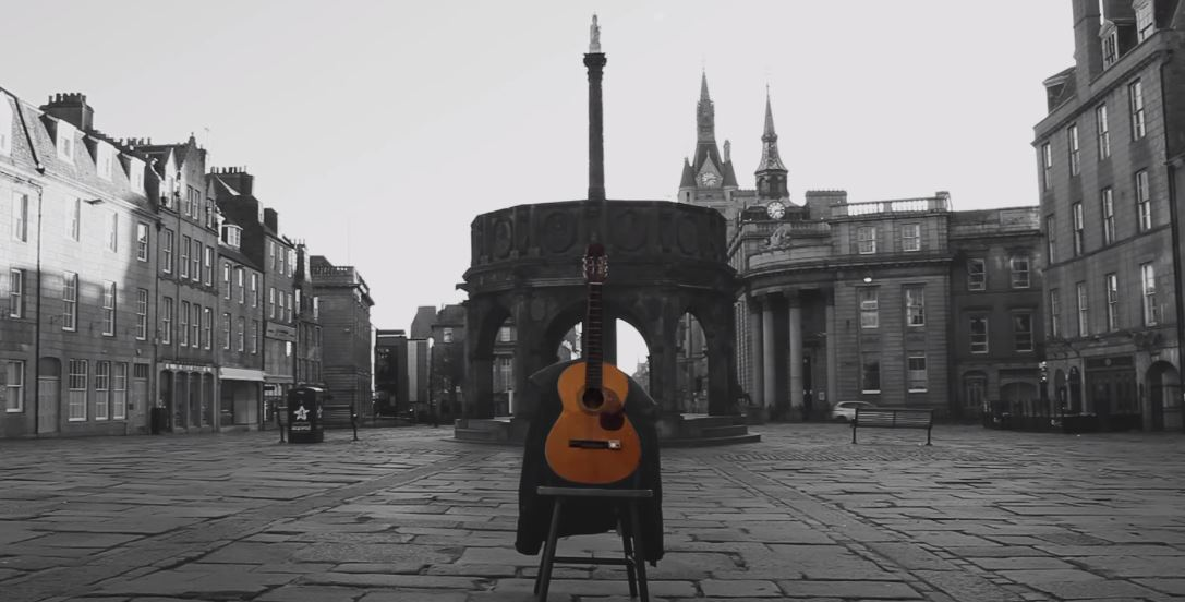 Aberdeen's Castlegate features in the video.
