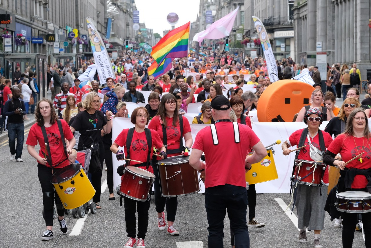 The Celebrate Aberdeen parade bring thousands to the city centre.