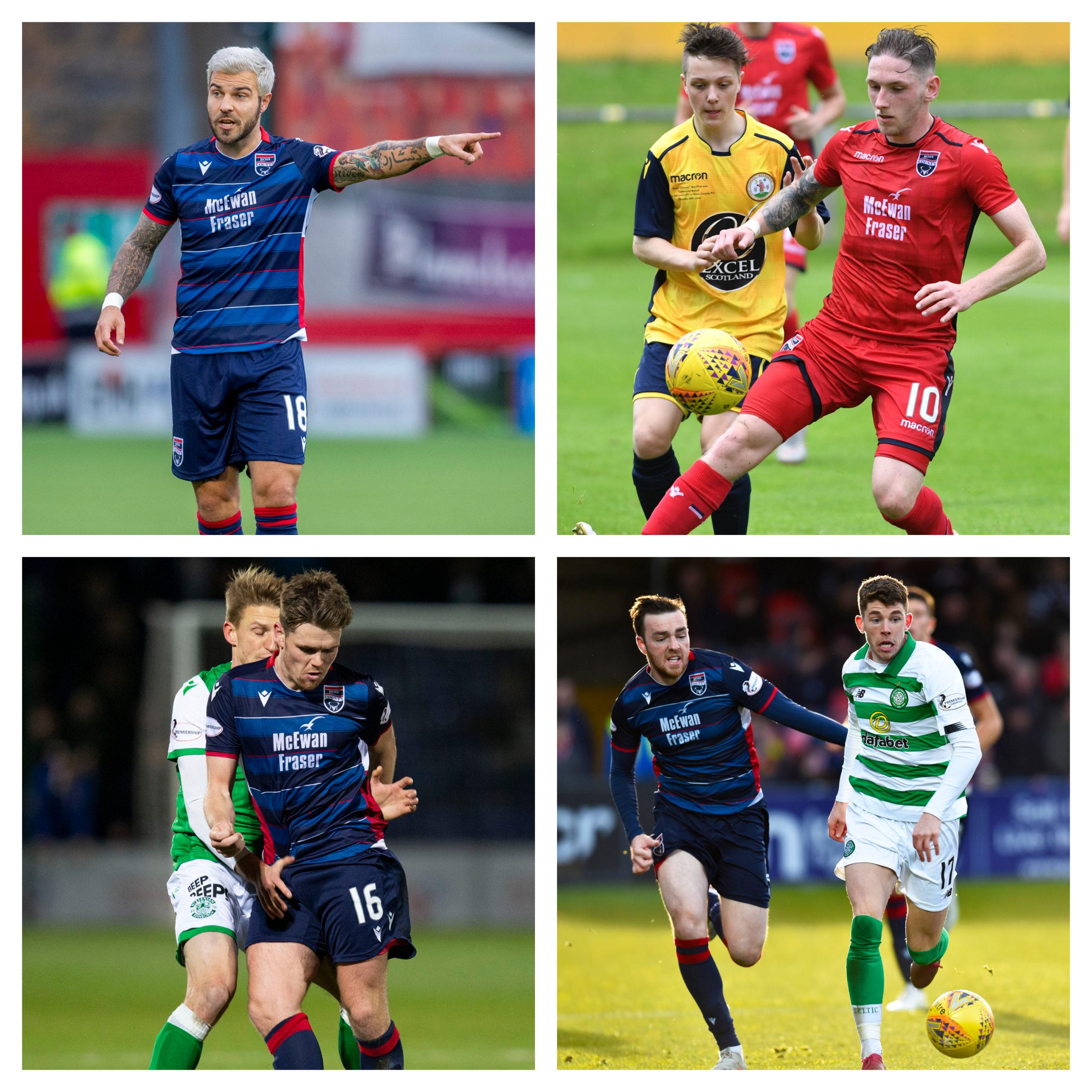 Clockwise from top left: Richard Foster, Declan McManus, Sean Kelly, Lewis Spence