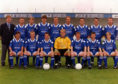Cove Rangers 1994/95. Front (from left): Graeme Park, Dave Morland, Doug Baxter, Arch McLean, Alan Leslie, Michael Beattie, Tommy Forbes. Back: manager Kenny Taylor, Bruce Morrison, Ritchie Clark, Andy Paterson, Mark Murphy, David Caldwell, David Whyte, Ray Lorrimer and Ray Stephen.