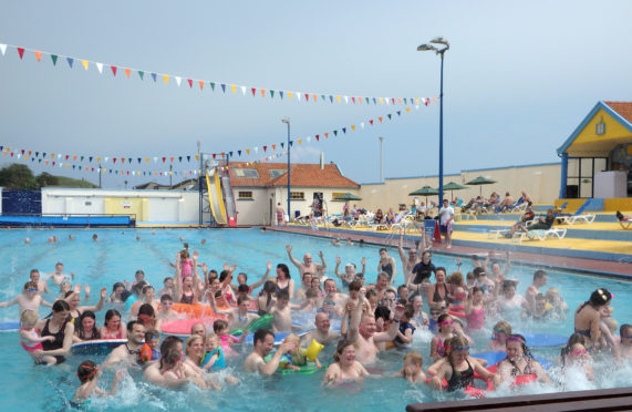 The usually busy Stonehaven Open Air Pool has been shut in 2020 due to the pandemic.