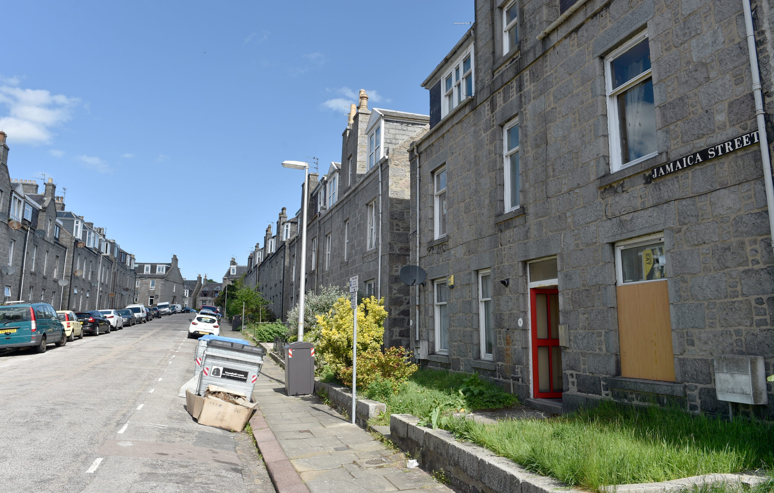 Pictured is a locator of Jamaica Street, Aberdeen Pictured on 26/05/2020 Picture by DARRELL BENNS   CR0021527