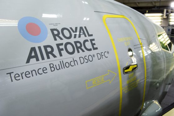 The third member of the RAF's P-8 Poseidon fleet has been named after Sqn Ldr Terence Bulloch.