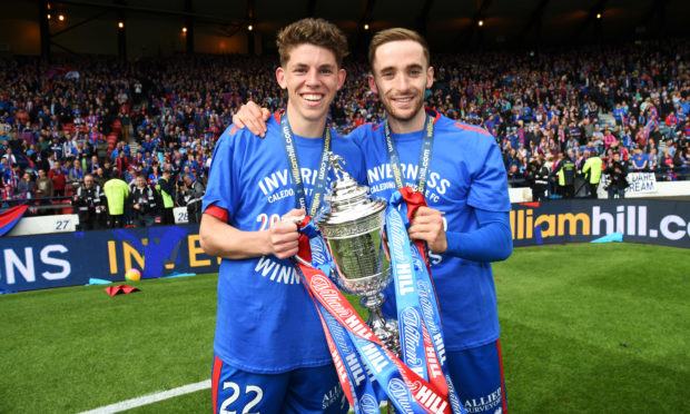 Nick Ross and Ryan Christie, two products of Caley Thistle's youth system