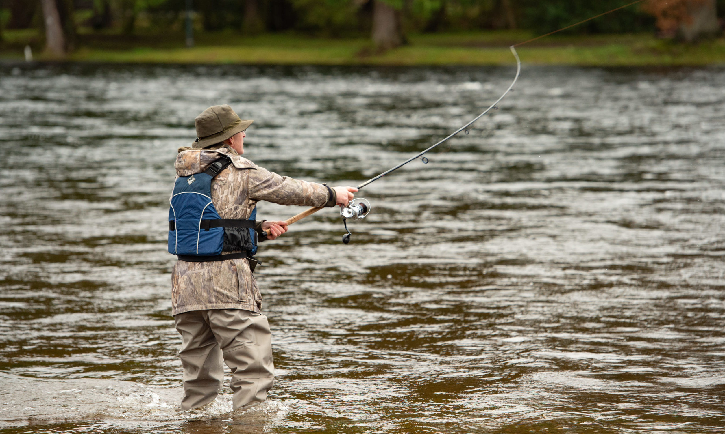 An angler on the River Ness. Picture by Jason Hedges