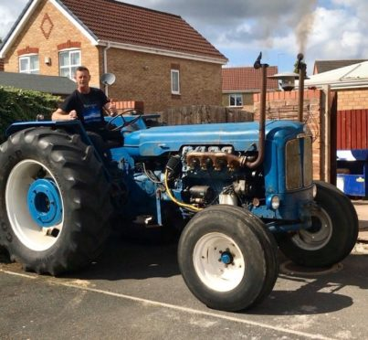 Mark Ferguson with his V8 Fordson Super Major tractor.