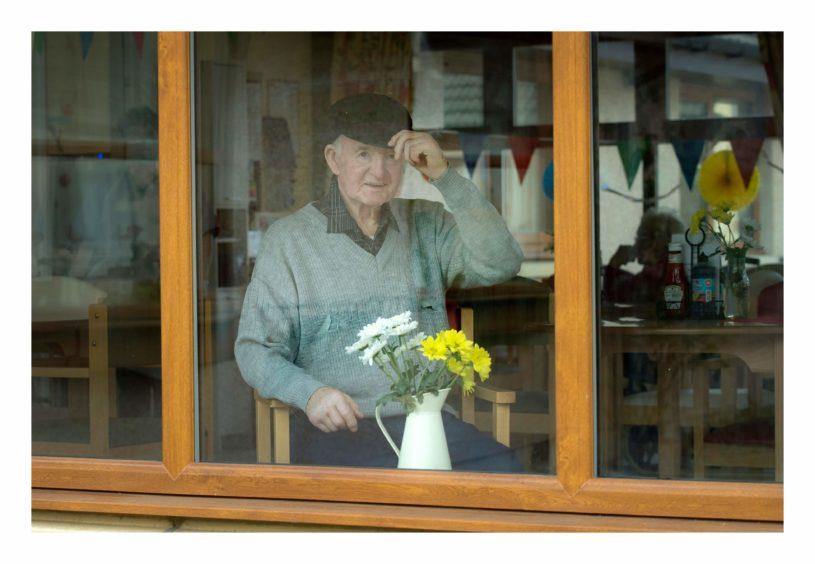 Frank Gauld, from Burnbank care home.