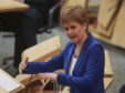 Nicola Sturgeon during First Minister's Questions.
