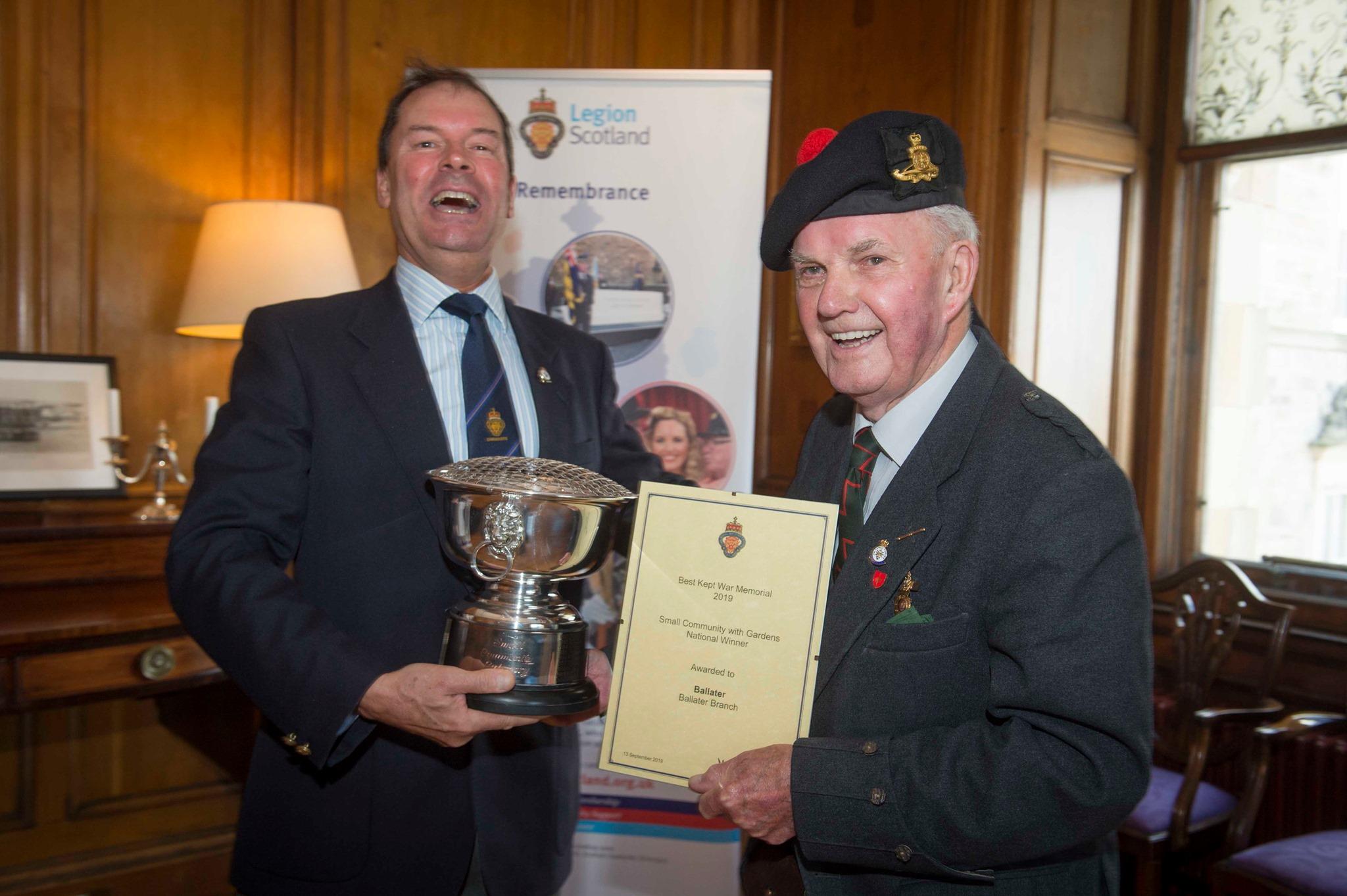 Mr Inkster with Davie Paton from Legion Scotland.