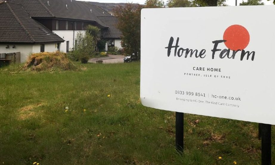 Home Farm Care Home in Portree, Skye.