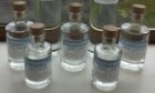 Hand sanitiser produced by Caithness gin distillery Ice and Fire, which will be distributed free of charge.