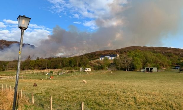 The fire service have said the fire has spread to posses a fire front of half-a-mile.