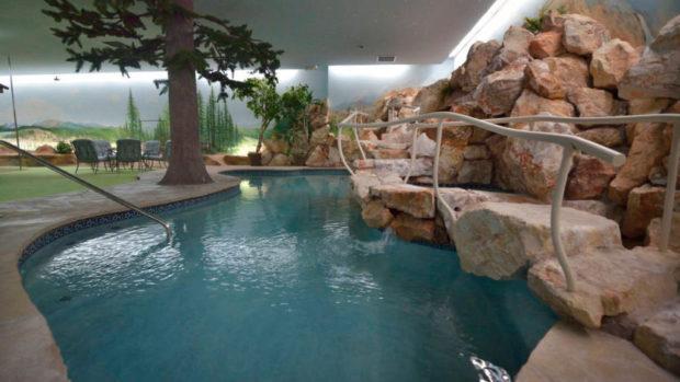 The underground house's pool