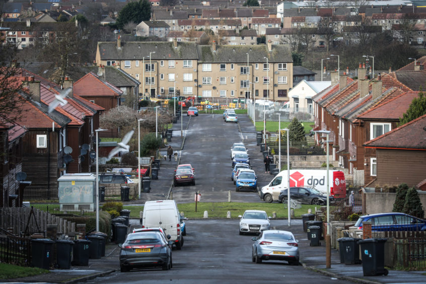 Linlathen, Dundee, which was named the ninth most deprived area in Scotland earlier this year.