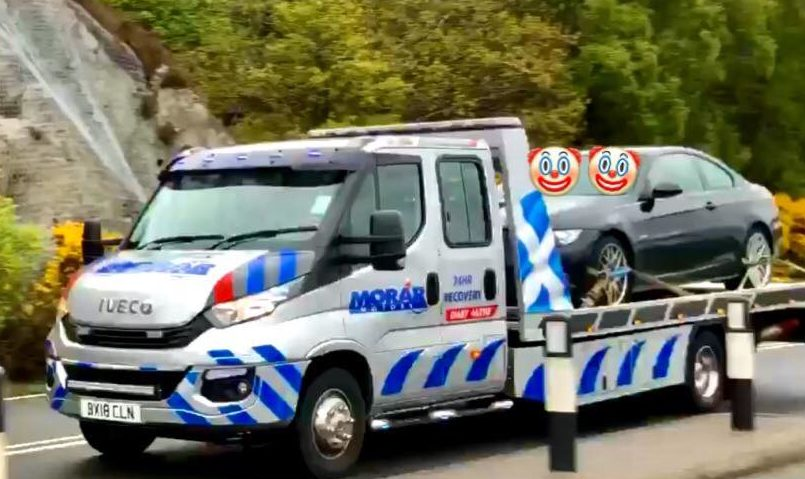 The image shared on social media by Morar Motors