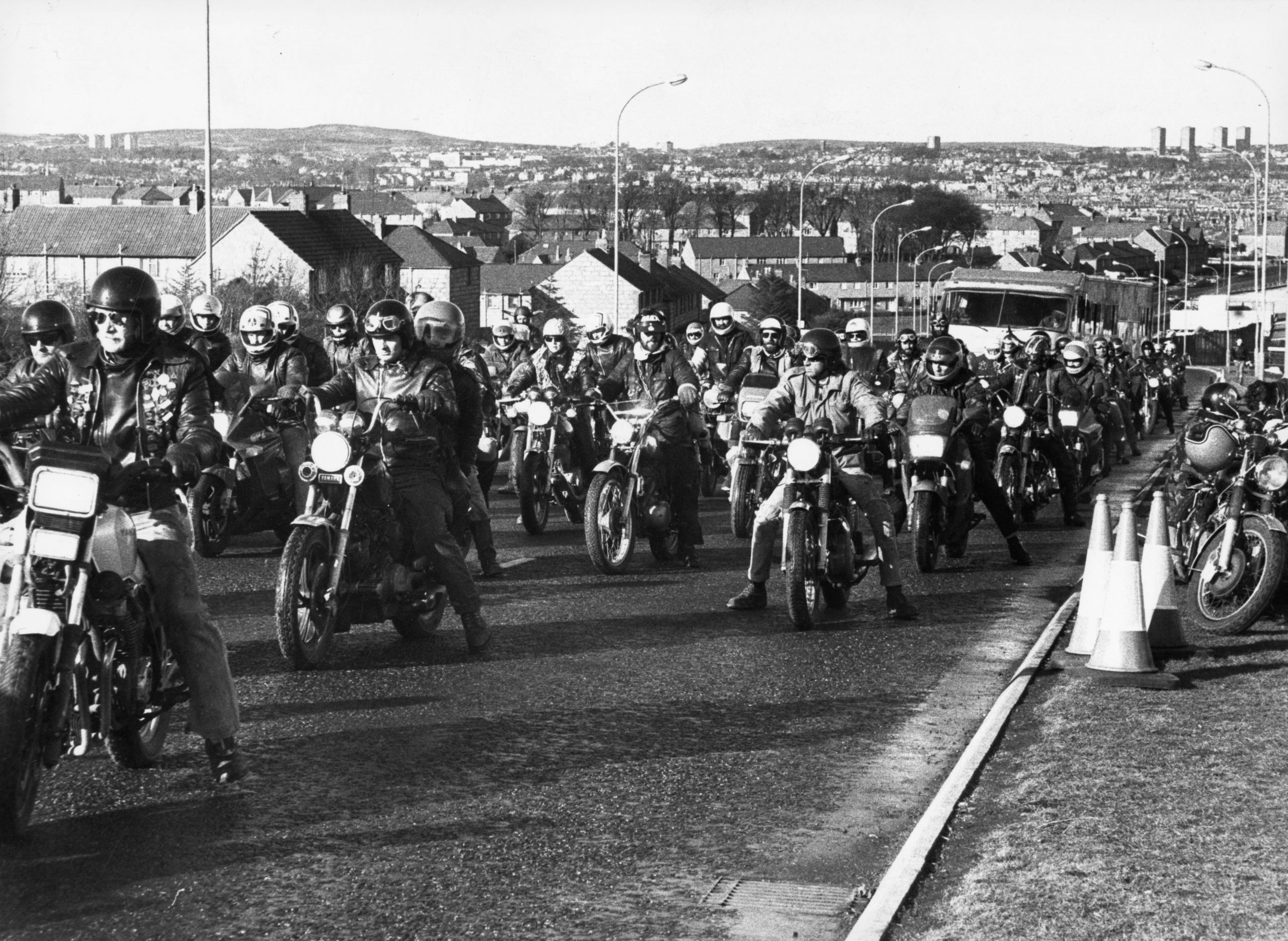 Altens in 1990 when local bike enthusiasts  were recruited as extras to play a biker gang for the filming  of BBC TV series Your Cheatin' Heart.