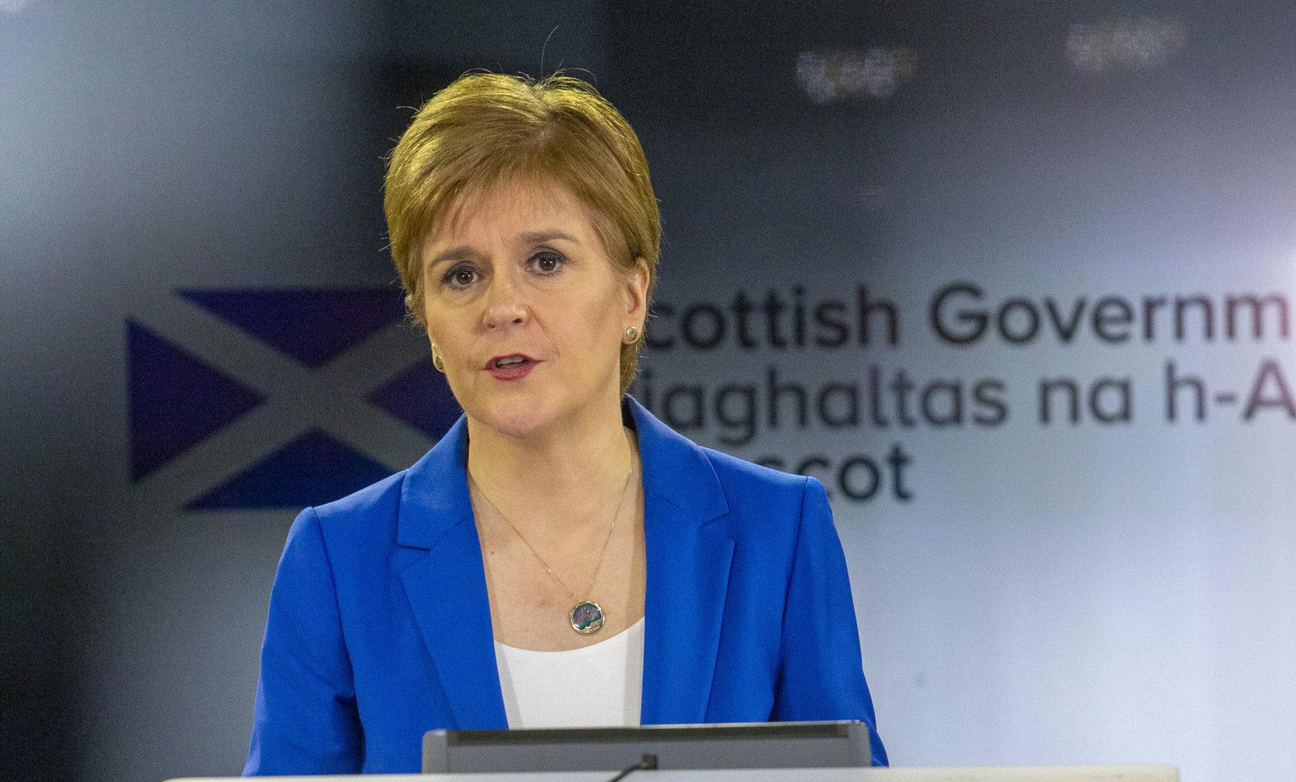 Scotland's First Minister Nicola Sturgeon.