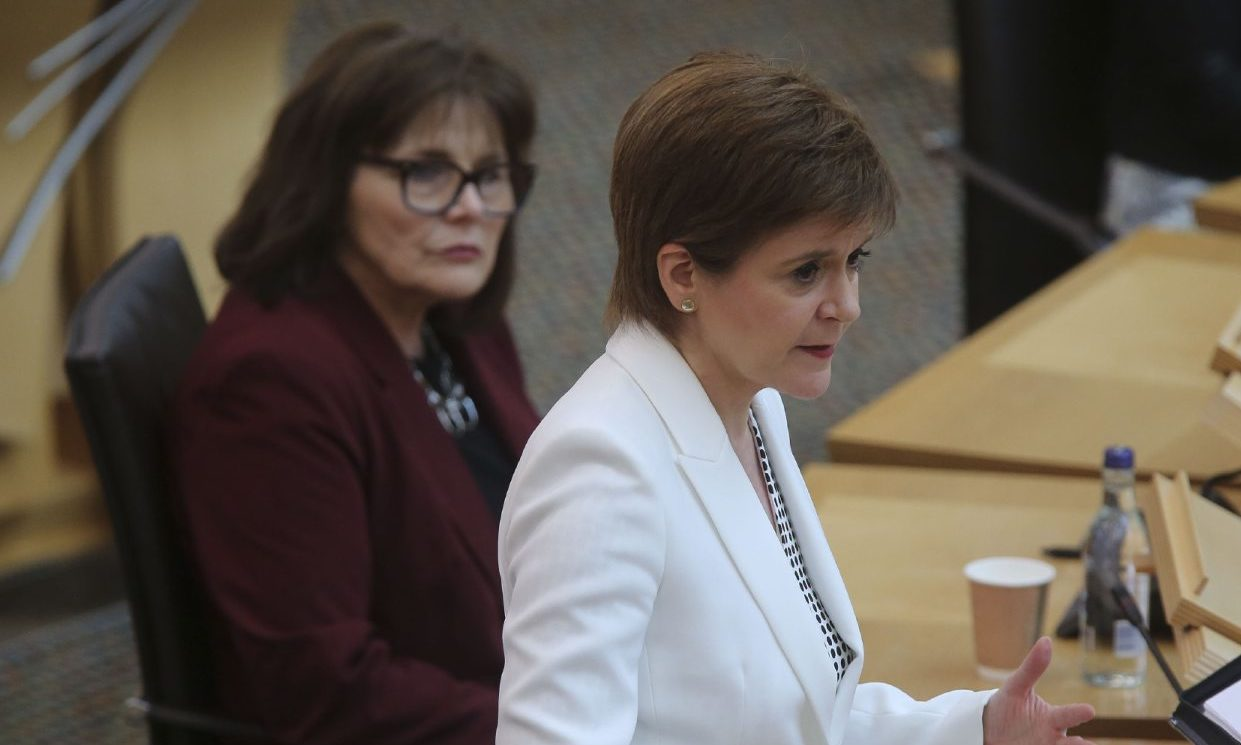 Jeane Freeman, left, and Nicola Sturgeon.