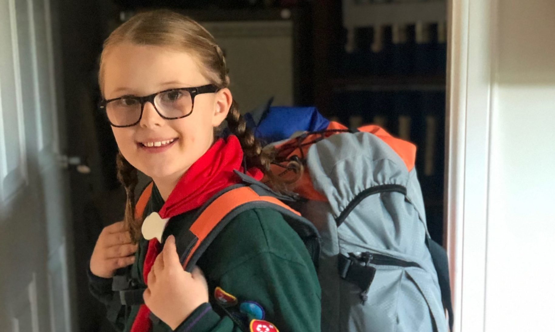 Cub member Olivia Madigan, 9, of 38th Aberdeen Scout group, took part in the lockdown camp.