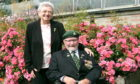 Olivia and Alex Ross at the Burma Star memorial rose garden in Duthie Park. Picture by Heather Fowlie