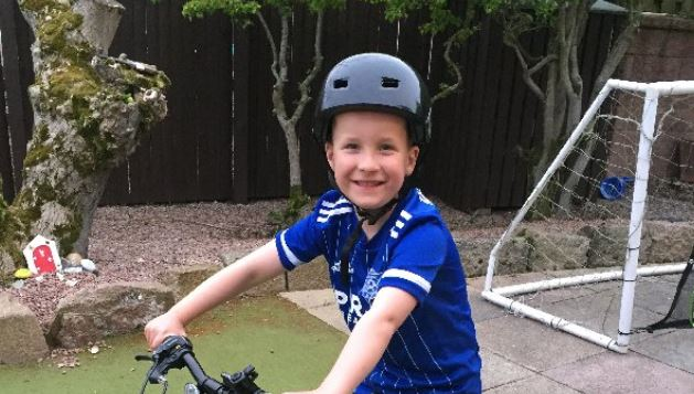 Connor Forsyth, 6, is cycling to raise money for the NHS