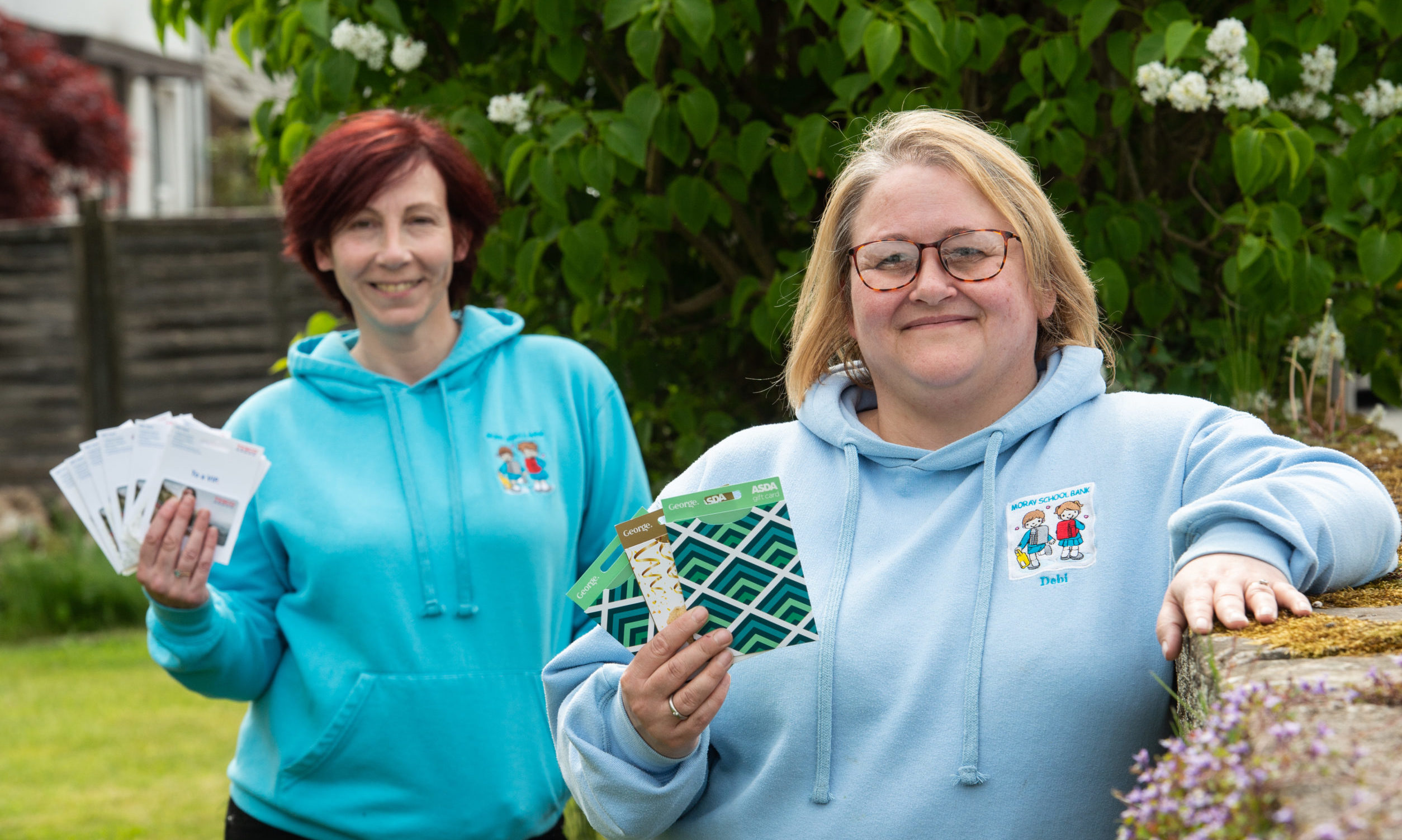 Debbie Kelly and Debi Weir from Moray School Bank.  Picture by Jason Hedges.