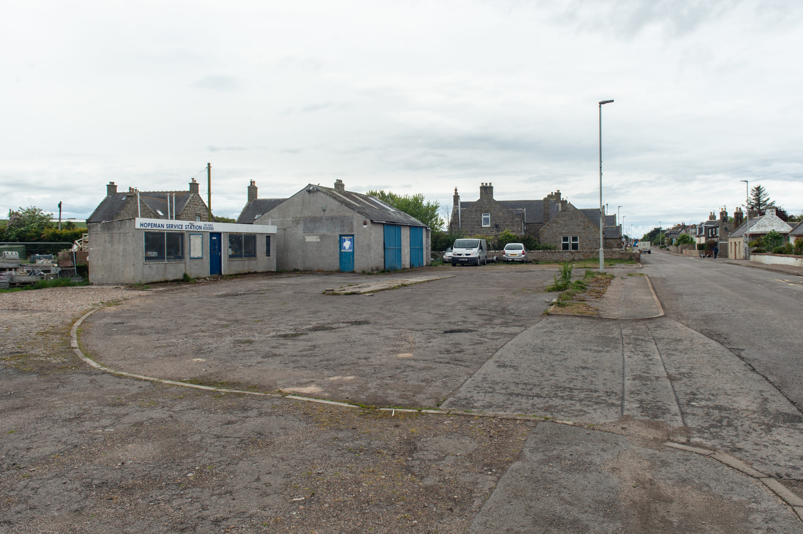 Springfield Properties wants to build flats on the site of the service station in Hopeman.