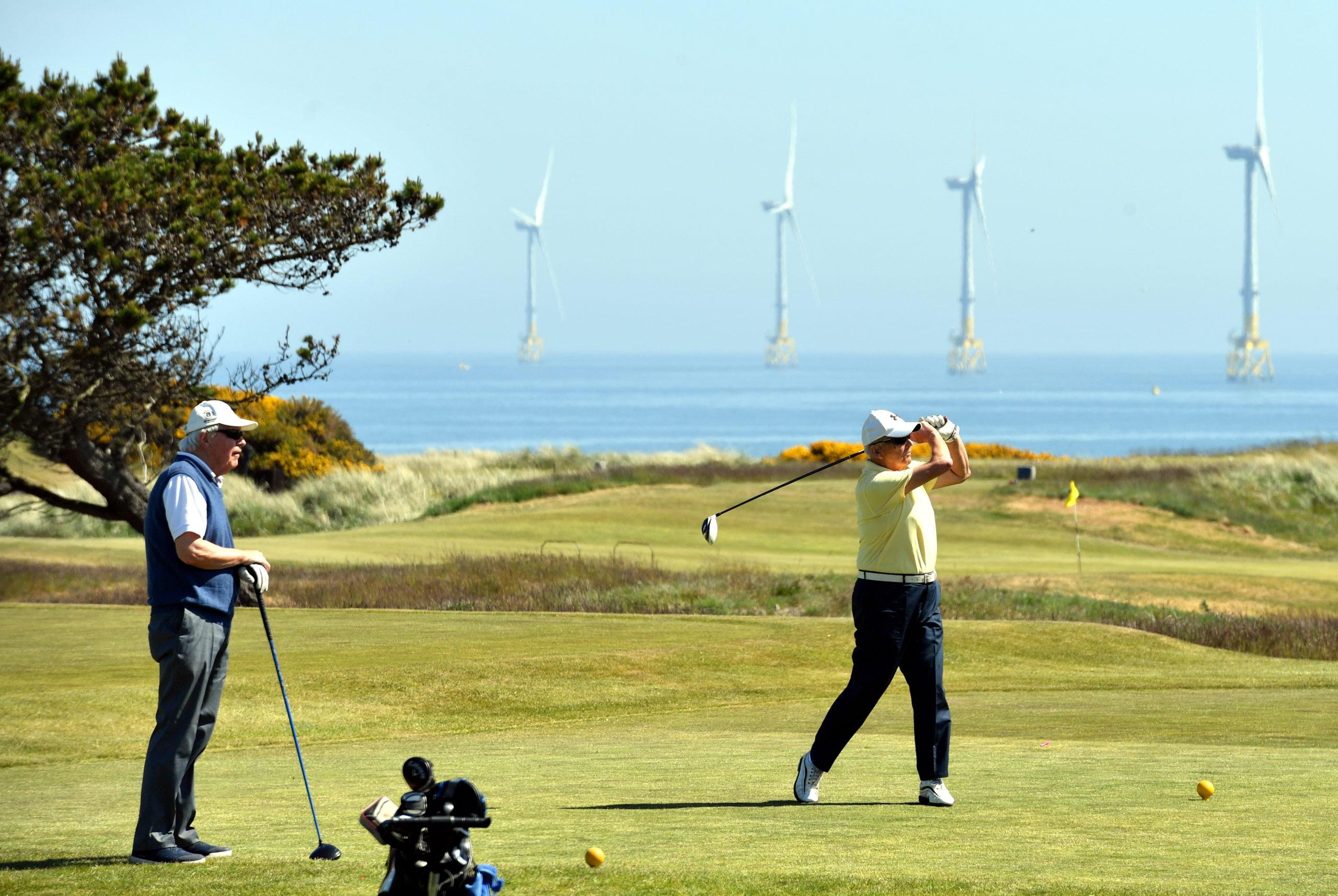 Golfers at Murcar Links.