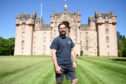 Stuart Stockley, who is spending lockdown with his wife and kids in Fyvie Castle, one of the most haunted in Scotland.