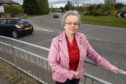 Highland Councillor Trish Robertson at the Inshes roundabout in Inverness. Picture by Sandy McCook.