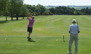 Golfers bask in glorious sunshine on the return to playing action at Inverness Golf Club. Picture by Sandy McCook