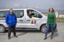 The three new recruits: Peter McNeill and Matthew Smith have been appointed as delivery drivers, while Sandra Macleod   Picture by Sandie Maciver of SandiePhotos