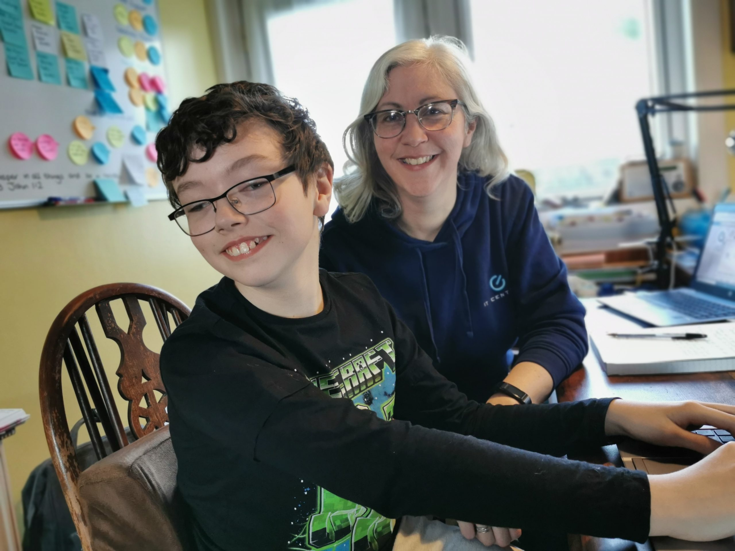 Lee Midland, chief executive of IT Central, with her son Josh.