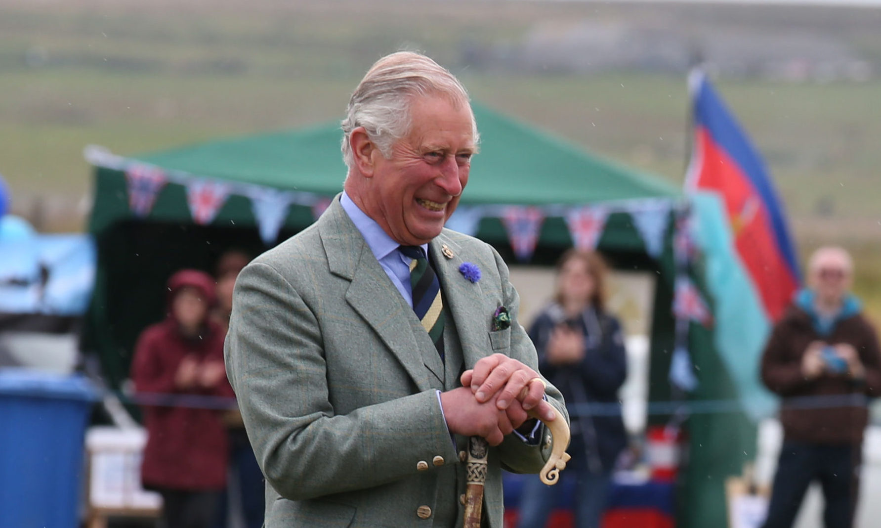 The Prince of Wales, also known as the Duke of Rothesay, attends the Mey Highland games which were held in a nearby field to John O' Groats, Scotland, due to a waterlogged field in Mey. PRESS ASSOCIATION Photo. Picture date: Saturday August 6, 2016. See PA story ROYAL Charles. Photo credit should read: Andrew Milligan/PA Wire