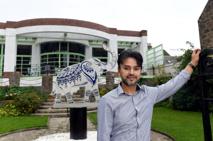 Raj Hamid his restaurant, Carron to Mumbai, in Stonehaven.