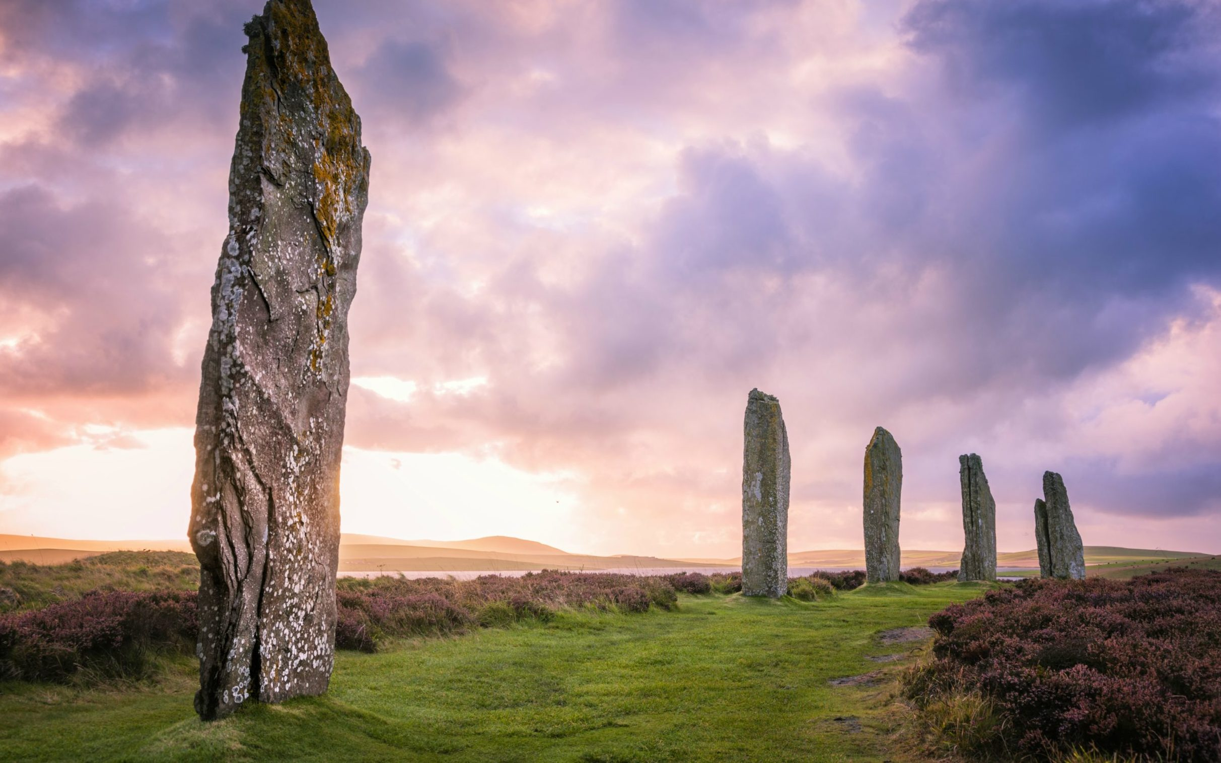 Ring of Brodgar in the Orkney Islands