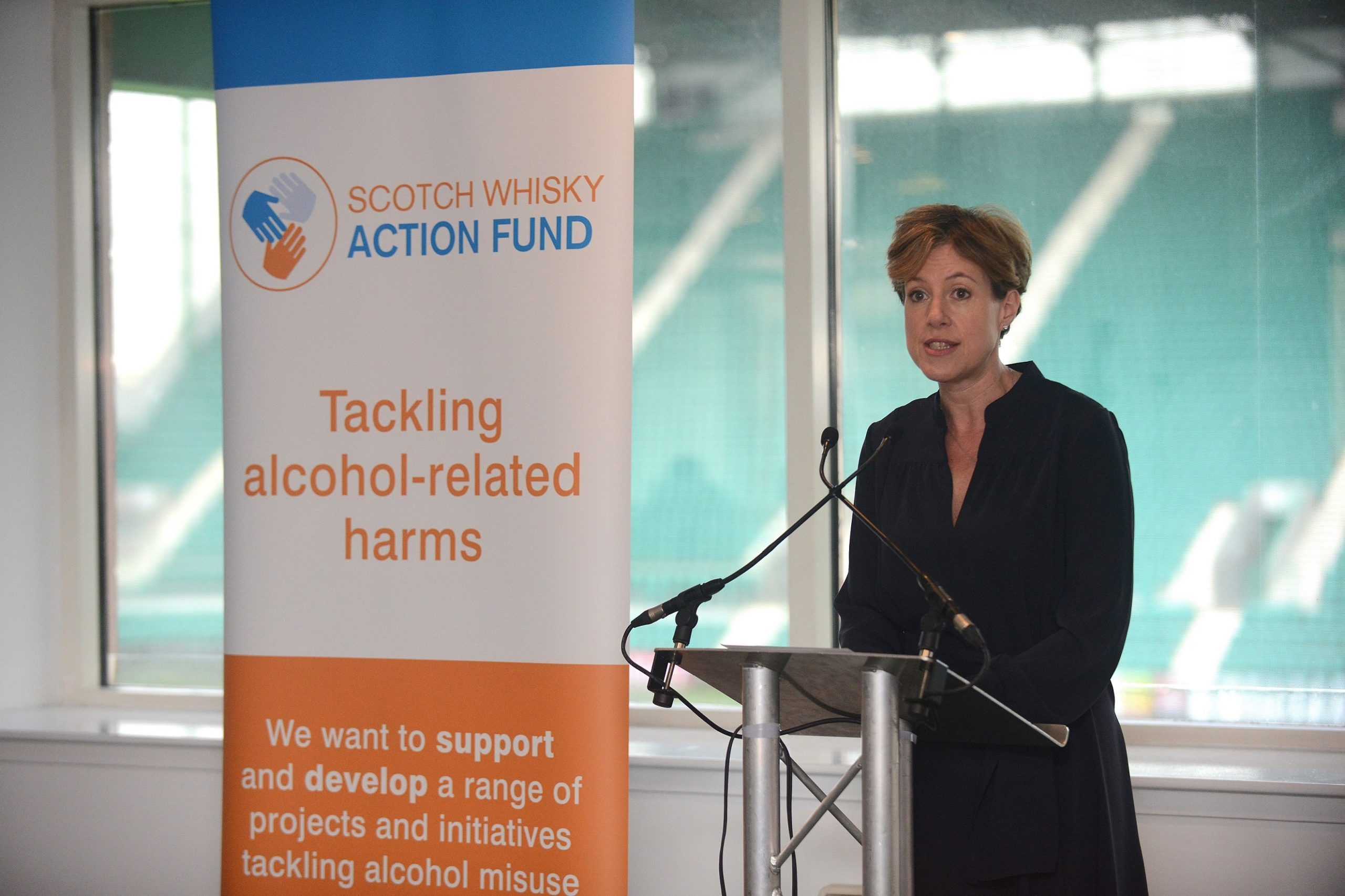 Karen Betts, chief executive of the Scotch Whisky Association, has praised the Addictions Counselling Inverness (ACI) project