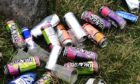 Police in Oban have shared an image of the litter left behind