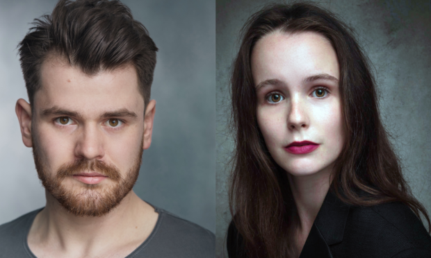 Elgin actor Lewie Watson featured in the production alongside Sophie Macnai from Glasgow.