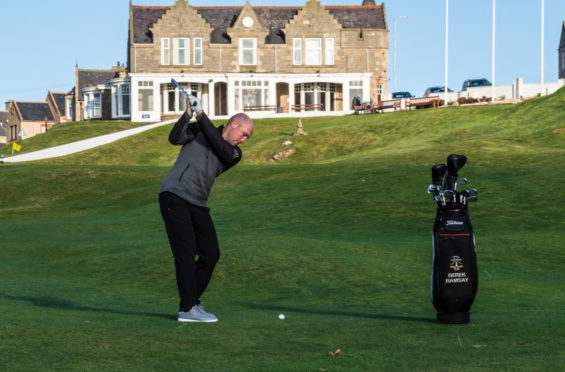 Moray Golf Club PGA Professional  Derek Ramsay wanted to make a difference through these uncertain times.