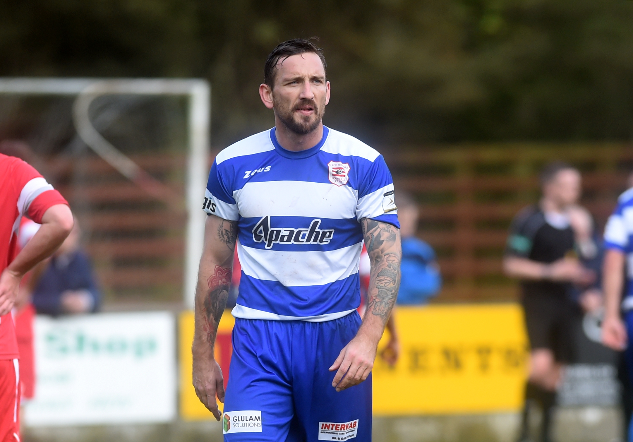 Jamie McAllister in his spell with Dyce. Picture by Darrell Benns