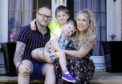 """The Dunkley family - mum Ashleigh, dad Alan, Hadden and CJ, from Buckie - got the """"doorstep"""" photography service ."""