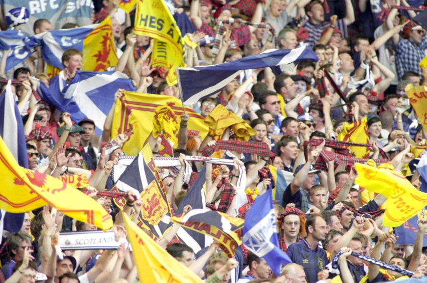 The Scotland supporters at Wembley.