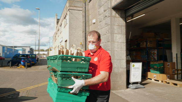 HUndreds of food parcels have been handed-out to those in need