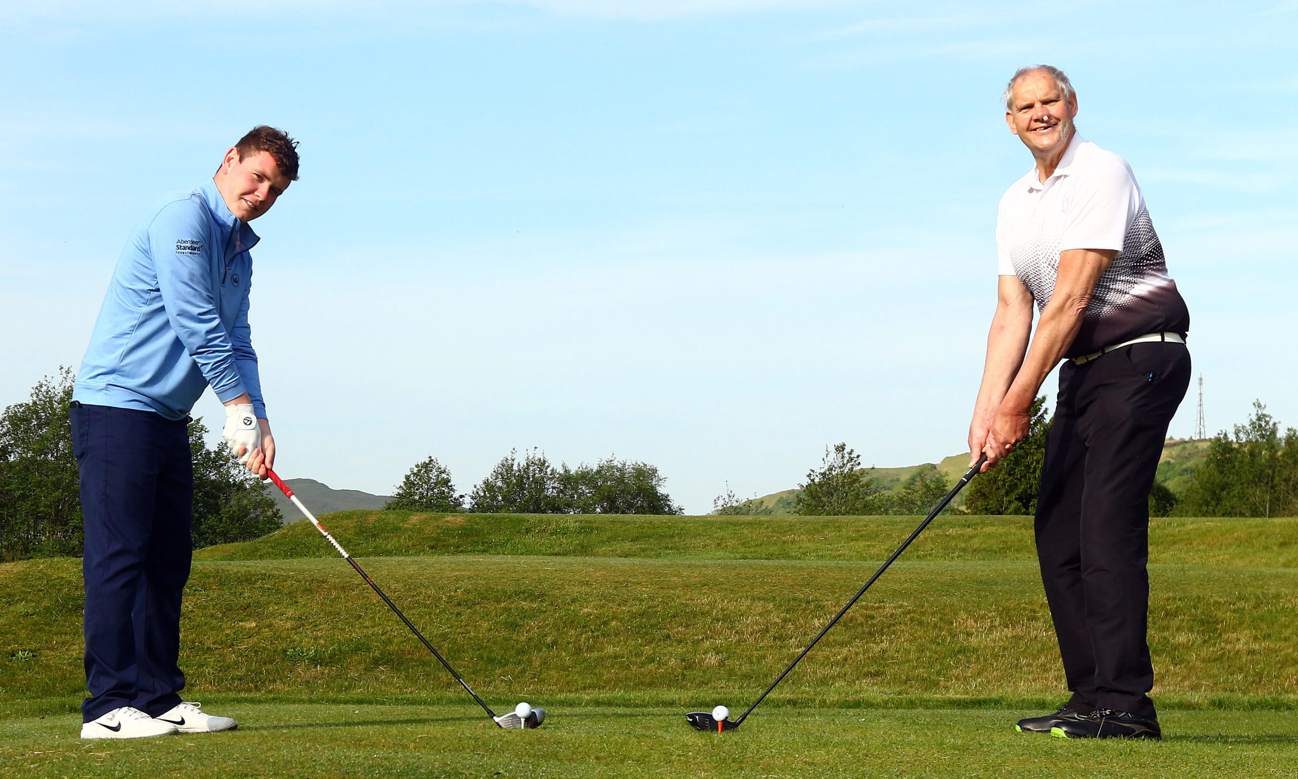 James Scott, who survived 38 days in intensive care with Covid-19, was given the honour of restarting golf at Glencruitten with Bob MacIntyre, Scotland's top pro