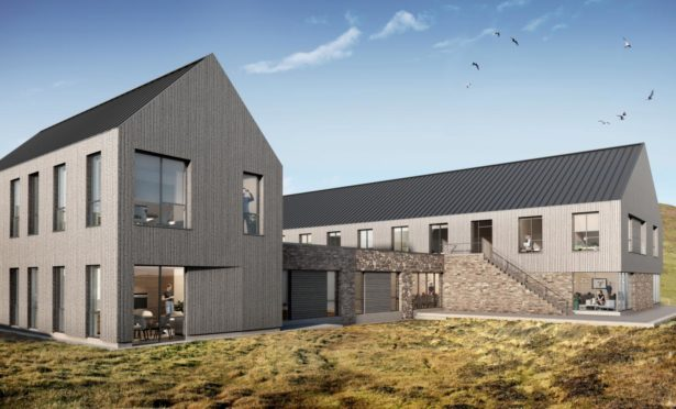 Impressions of the new observatory and guesthouse. Visualisation by ICA