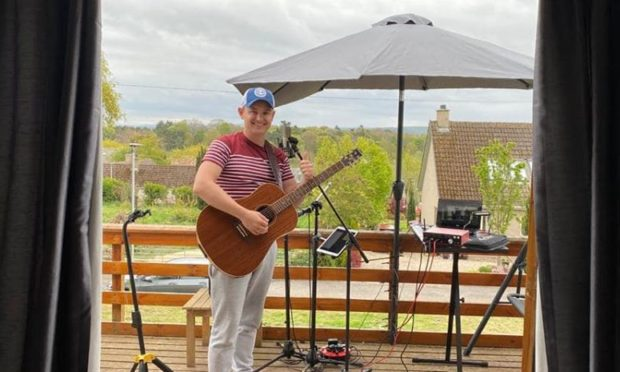 Paddy Farrell really enjoyed putting on a successful online gig for Moray Food Plus.